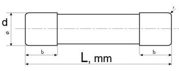 Цилиндрические предохранители (плавкие вставки) 10х38 мм